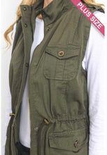 Load image into Gallery viewer, Olive Utility Vest