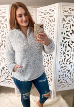 Load image into Gallery viewer, Grey Sherpa Pullover