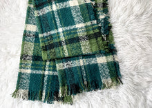 Load image into Gallery viewer, Frayed Plaid Scarf