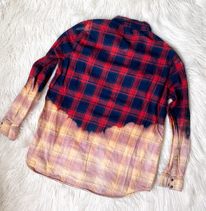 Vintage Hand-dyed Flannels - LARGES
