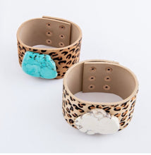Load image into Gallery viewer, Stone + Leopard Cuff