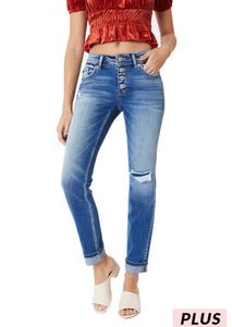 Kancan Mid-rise Straight Jeans