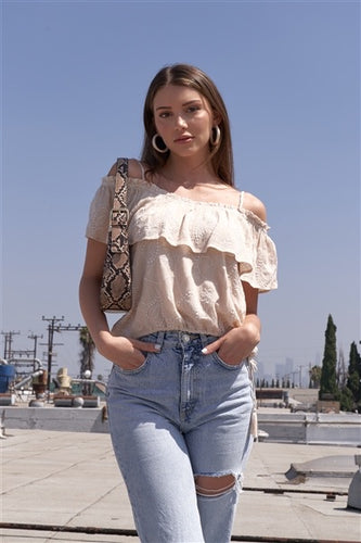 Boho Off-The-Shoulder Cropped Top