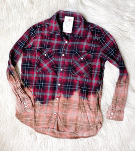 Vintage Hand-dyed Flannels - SMALLS