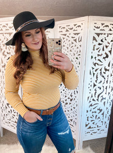 Mustard Ribbed Bodysuit