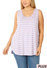 Load image into Gallery viewer, Stripe Lavender Tank