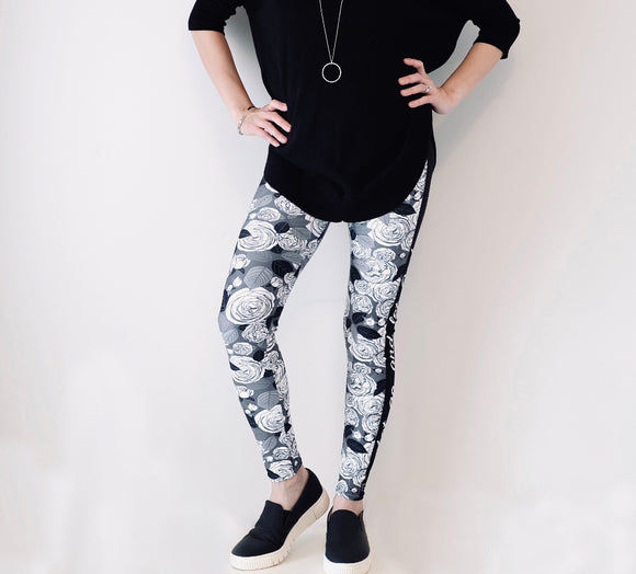 Let Go & Let God - Women's Leggings - Maker & Mine
