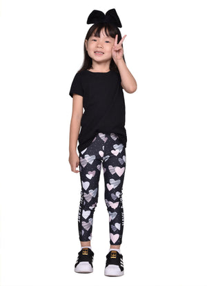 Pink Hearts -  Children's Leggings - Maker & Mine