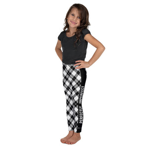 Black & White Plaid - Children's  Leggings - Maker & Mine