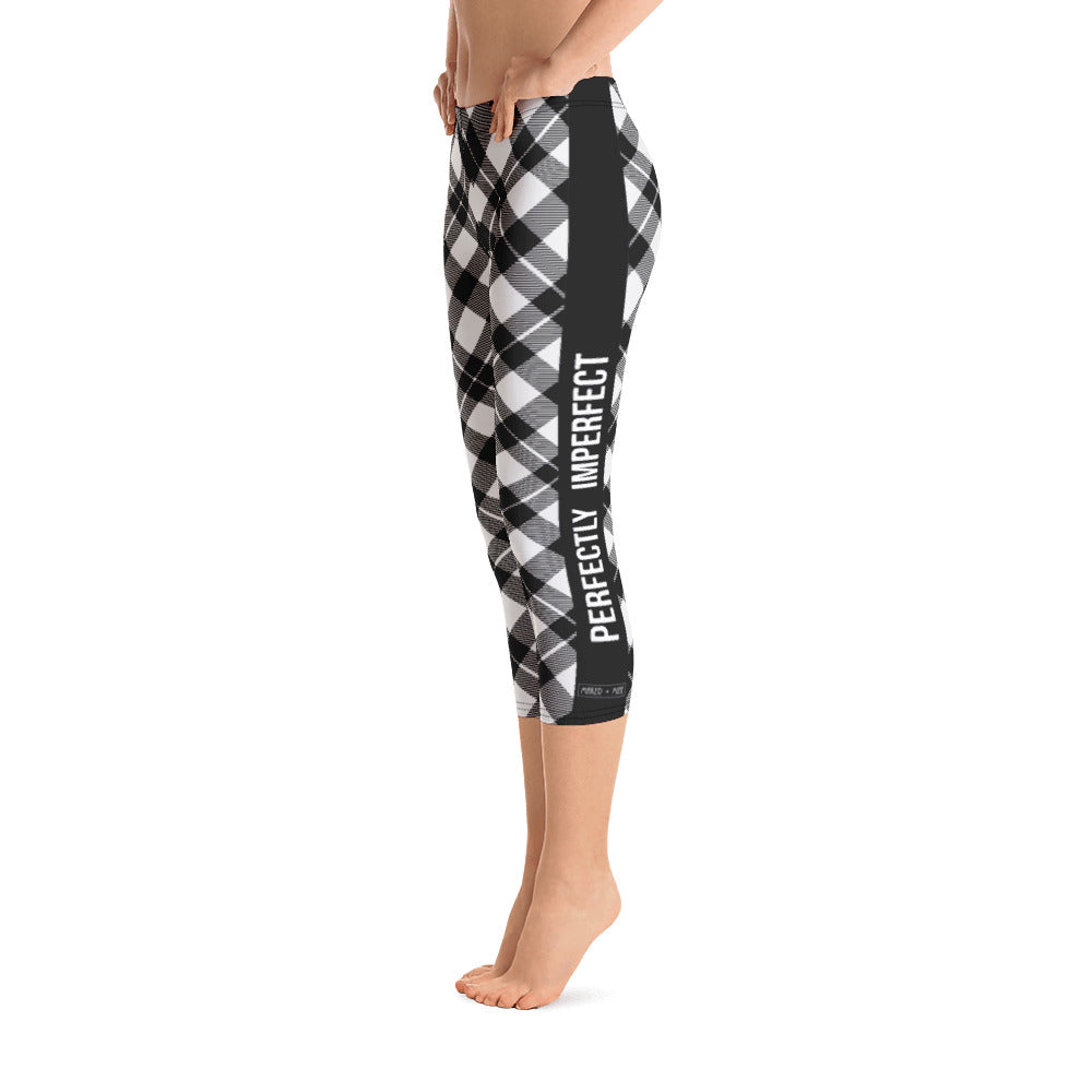 Perfectly Imperfect - Checkered Capri Leggings - Maker & Mine