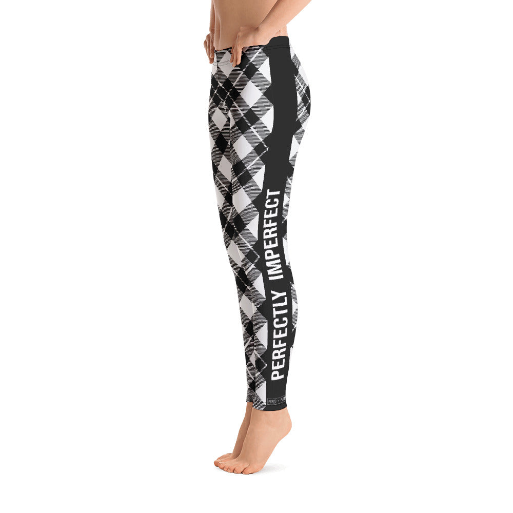 Black & White Plaid - Women's Leggings - Maker & Mine