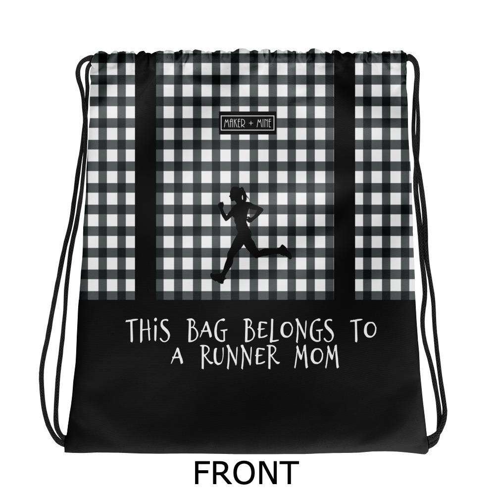 Runner Mom - Checkered Bag - Maker & Mine