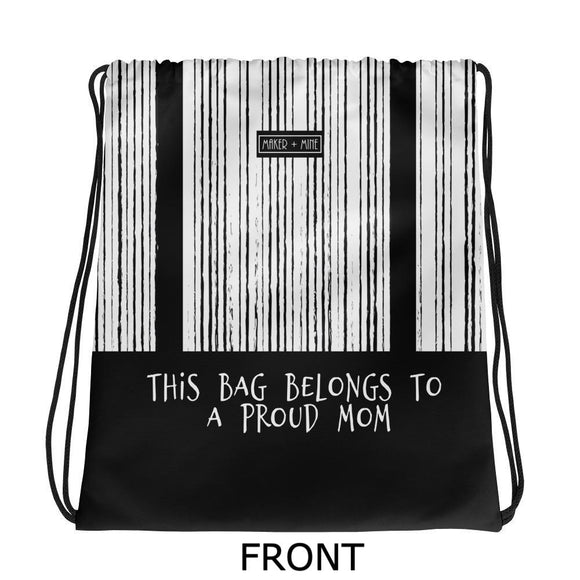 Proud Mom - V Stripes Bag - Maker & Mine