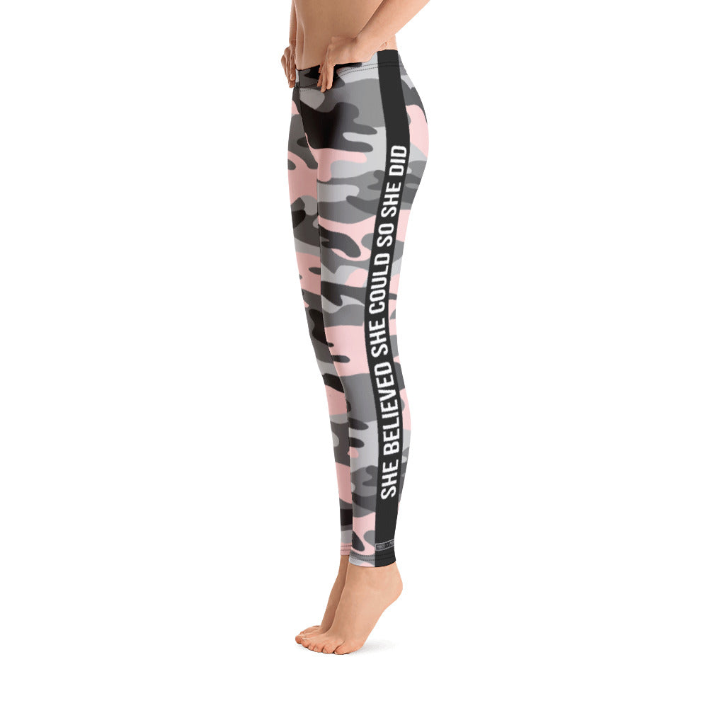Pink Camo  - Women's Leggings - Maker & Mine