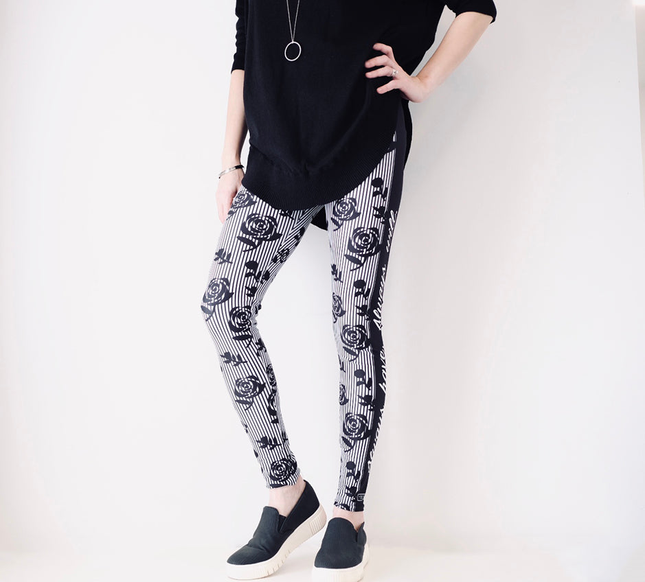 Black Roses - Women's Leggings - Maker & Mine