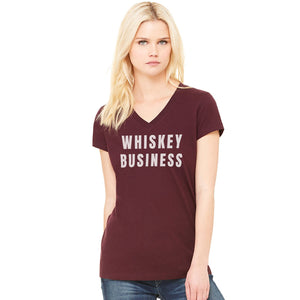 Whiskey Biz V-Neck - Maroon (Women's)