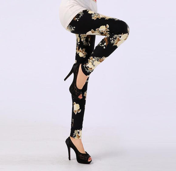 Soft Microfiber with Colorful Printed Leggings