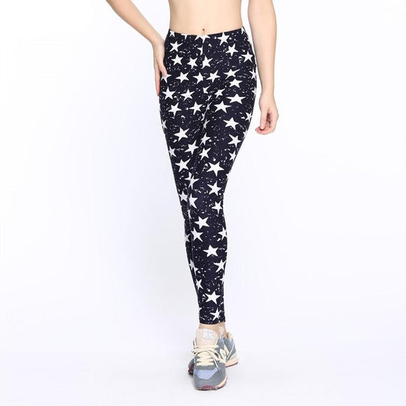 Colored Stars Graffiti Leggings