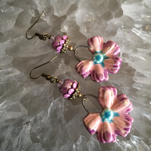 Blue and Pink with Ceramic Bead