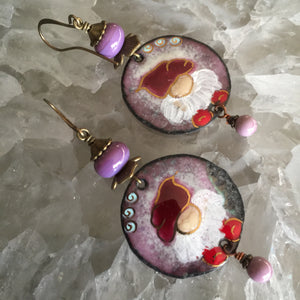 Christmas Elf Round in Purple and Red