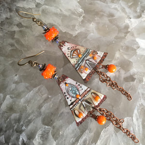 Teepee in Orange Enamel