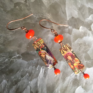 Ladies in Hats with Orange Beads Tin