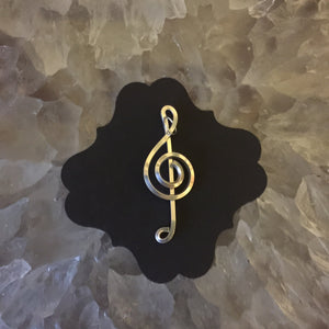 Silver Music Necklace Nine