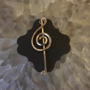 Silver Music Necklace Eleven