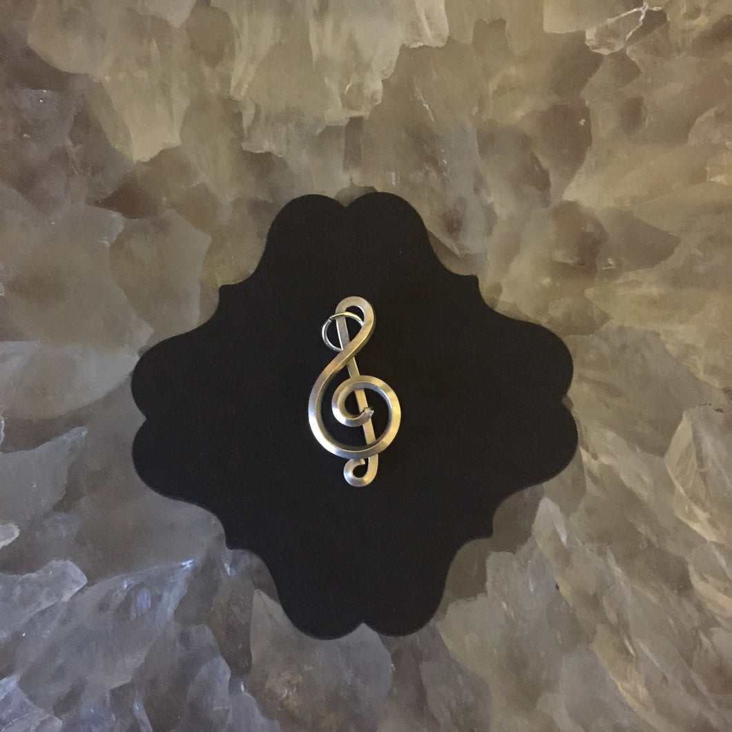 Silver Music Necklace Twelve