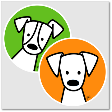 Dog Park Stickers (2-pack)