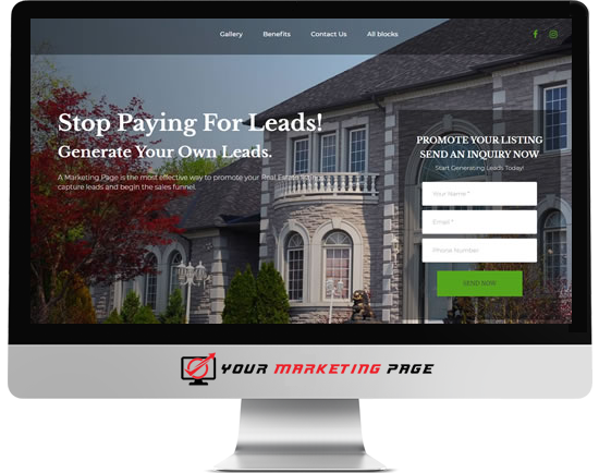 real marketing page
