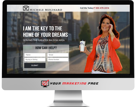 real estate marketing page