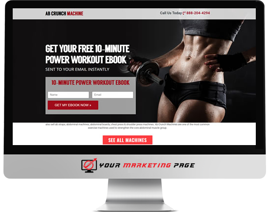 fitness marketing page