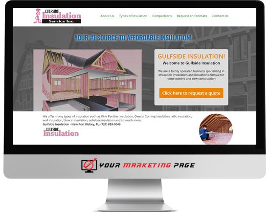 insulation marketing page