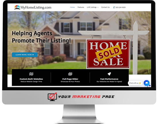 my home listing marketing page
