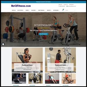portfolio Net2Fitness-website