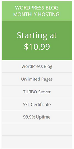 wordpress monthly hosting