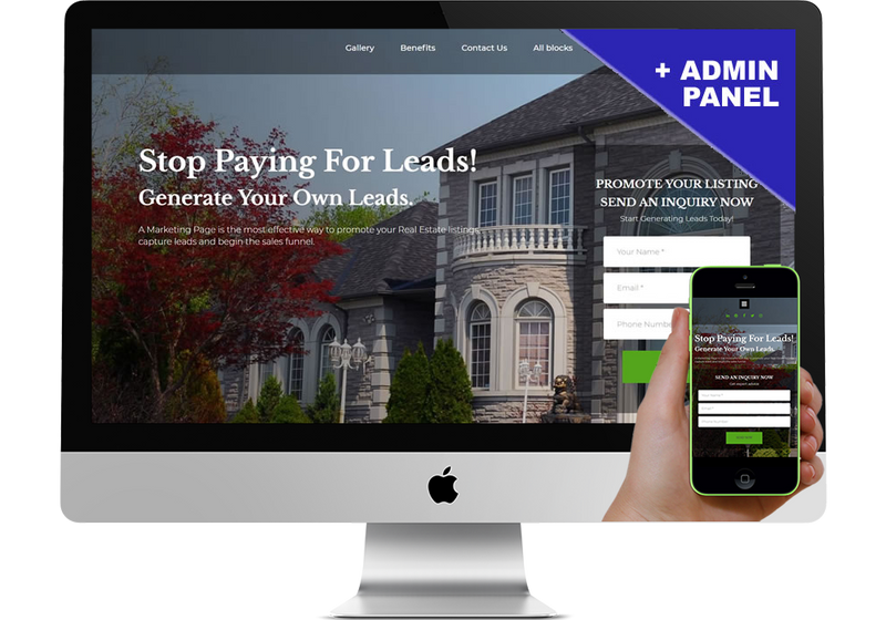 Real Estate Marketing Page Landing Page
