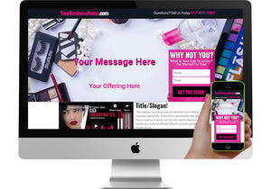 Makeup Business Opportunity Marketing Page