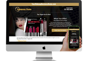 Cosmetics/Makeup Marketing Page