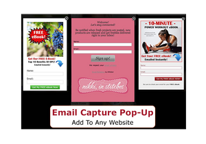 Email Capture Lightbox Pop-Up