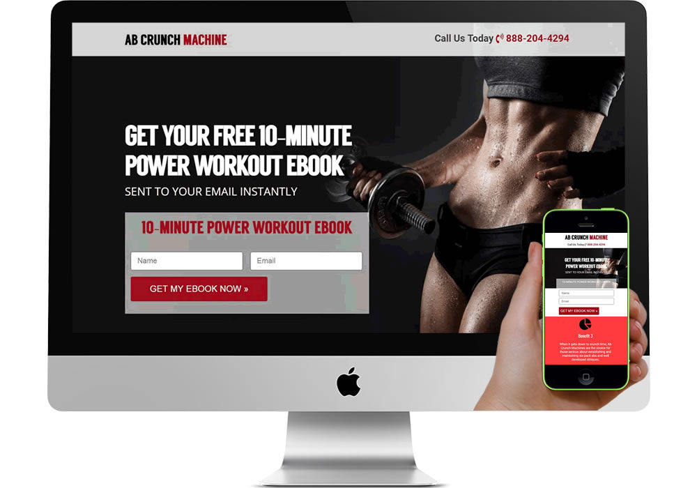 Fitness/Wellness Marketing Page