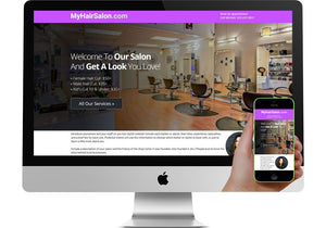 Hair Salon Marketing Page