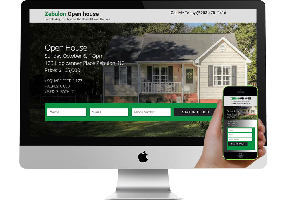 Open House Marketing Page