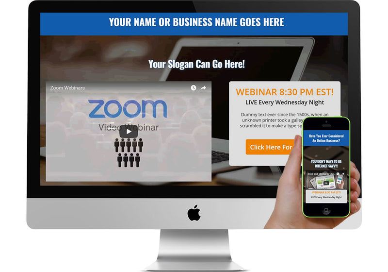 Webinar Marketing Page