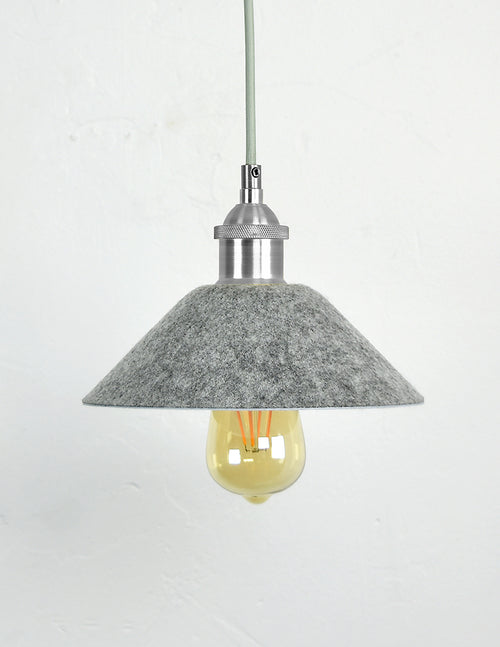 Felt Grey Cone Shade  light fixture