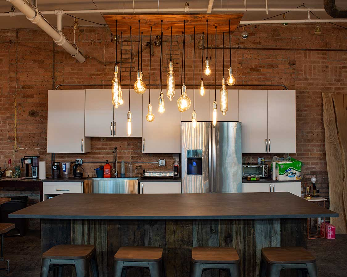 Our Industrial Kitchen Hangout Lighting