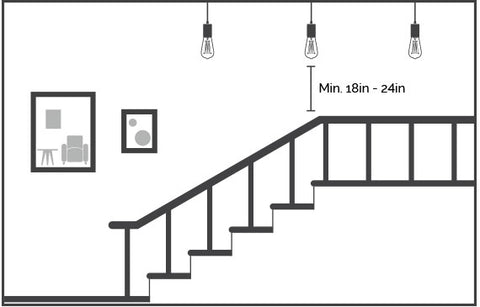 Stairway Lighting Illustration