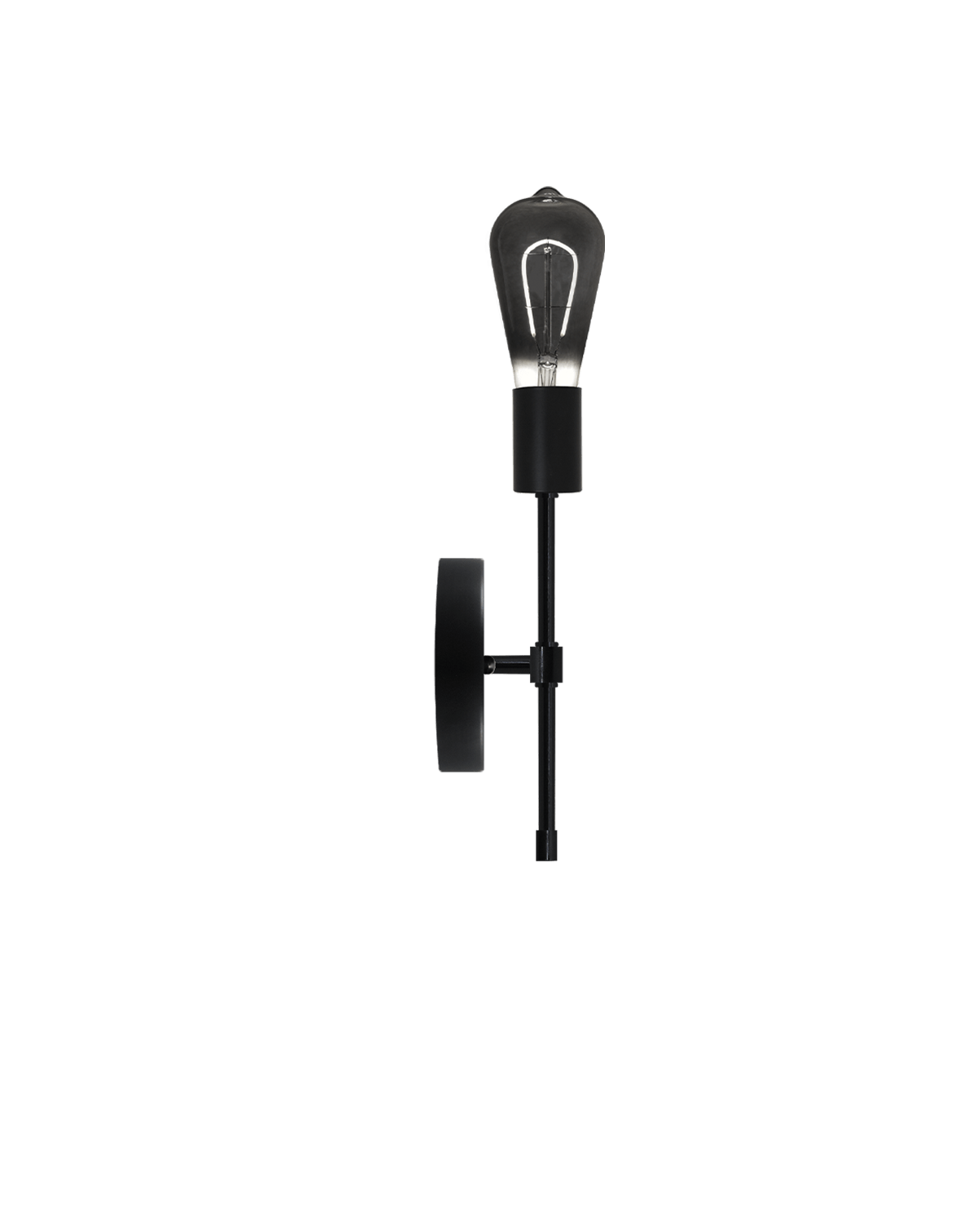 Torch Wall Sconce: Black with Smoke