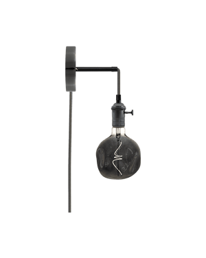 Plug-in Adjustable Wall Sconce: Graphite and Smoke